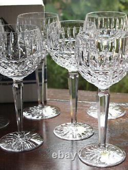 Waterford Crystal Tramore Hock Wine Glasses Set of 6 Mint in Box Vintage