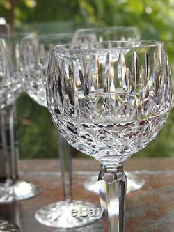 Waterford Crystal Tramore Hock Wine Glasses Set of 6 Vintage Mint Original Box