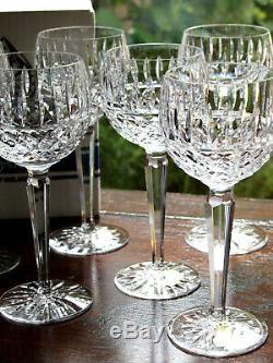 Waterford Crystal Tramore Hock Wine Glasses Set of 6 Vintage Mint in Box