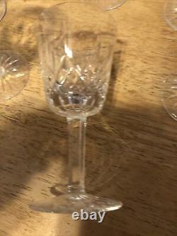 Waterford Crystal Wine Glasses And Goblets. Decanter Irish vintage, perfect