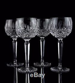 Waterford Lismore Wine Hock Goblet Glasses, Set of (4), Vintage Mark