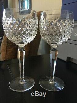 Waterford Vintage ALANA (4) Wine Hocks / Goblets MINT Condition