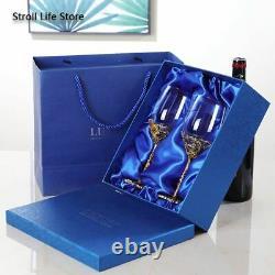 Wine Decanter And Glasses Set Dispenser Crystal Glass Luxury Vintage Champagne