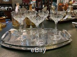 X5 Vintage Waterford Crystal Water Glasses